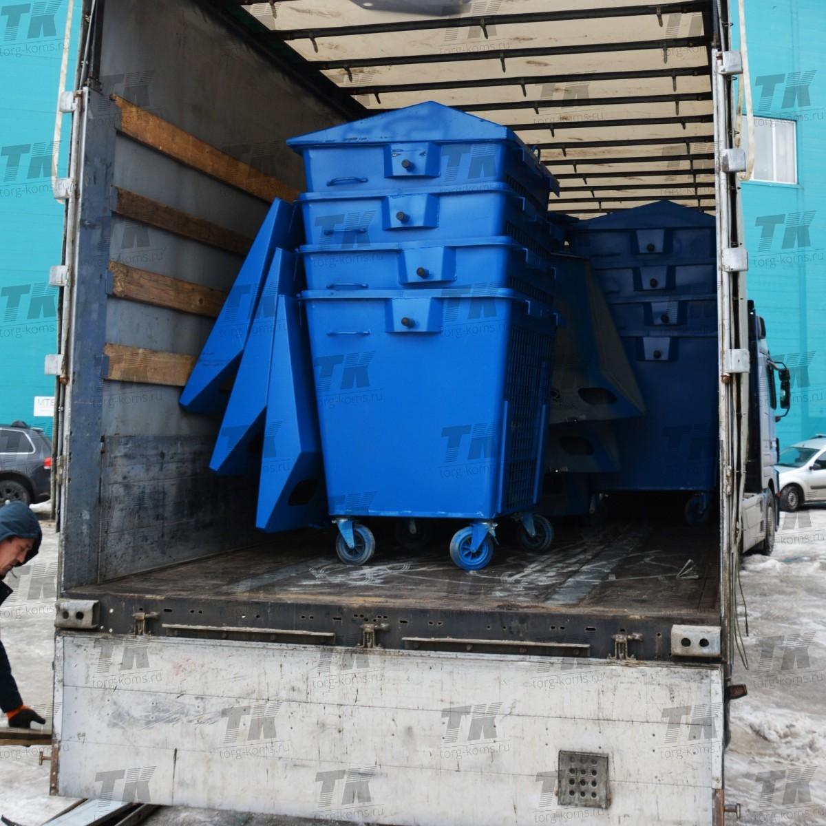 Контейнер РСО 1,1 м3 (под пластик)