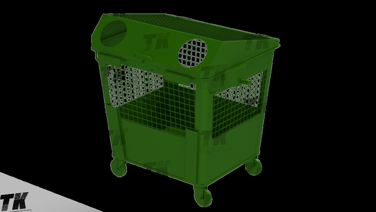 Контейнер для сбора стеклянных отходов и упаковки